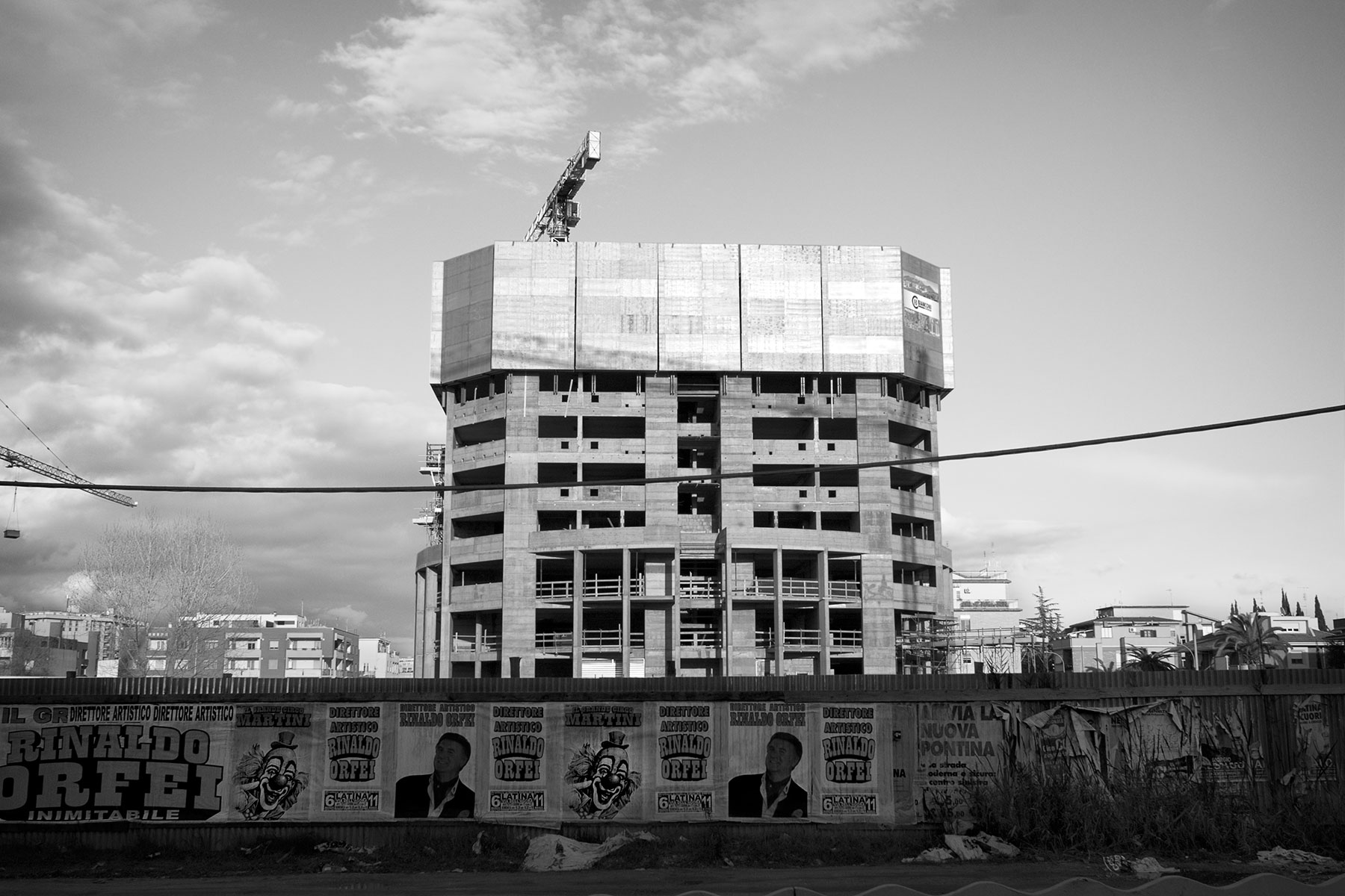 Latina, cantiere Torre Pontina