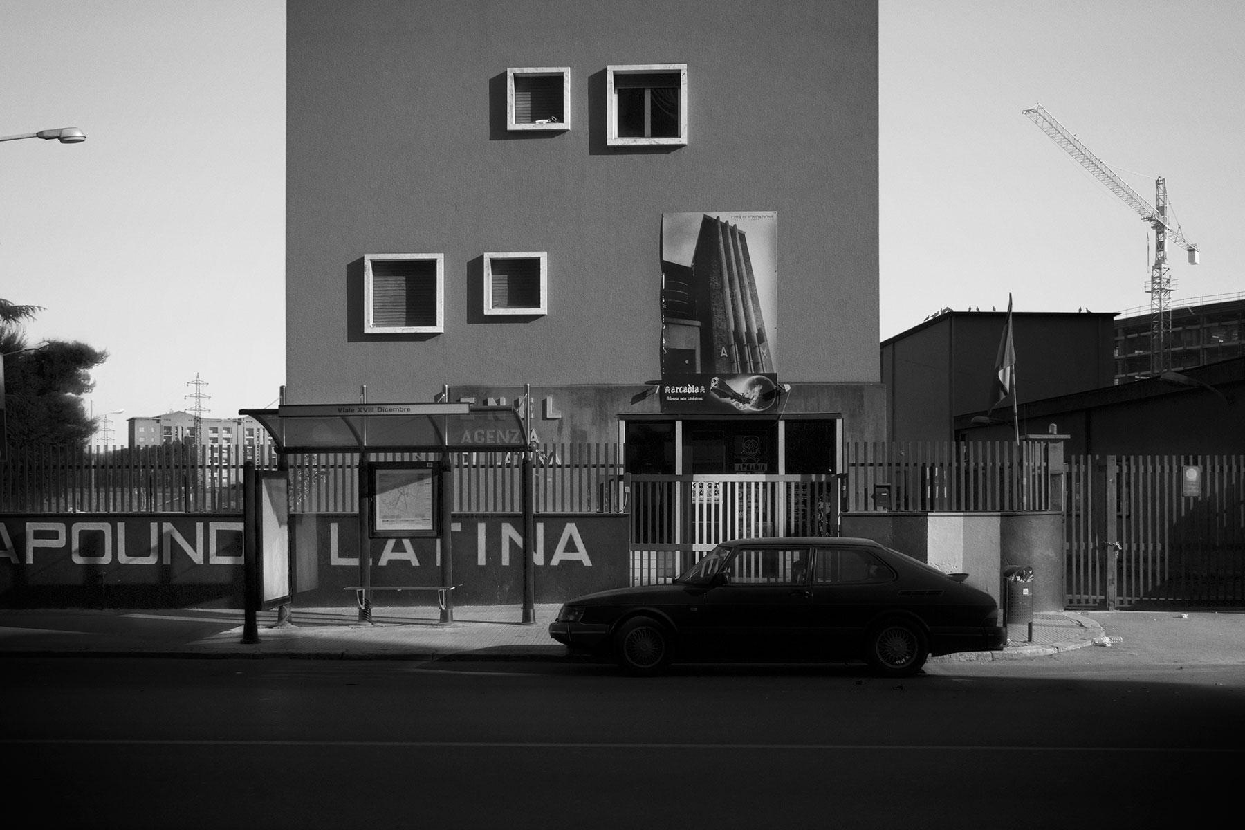 Latina, Viale XVIII Dicembre. Sede Casa Pound.