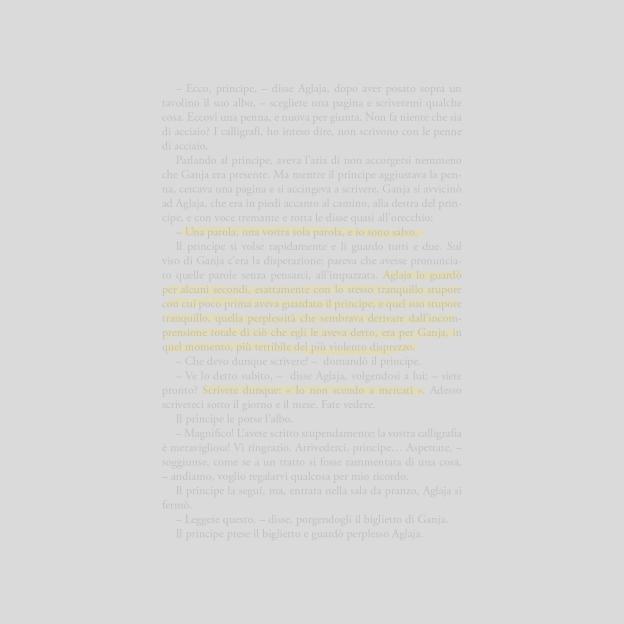 Una pagina tratta dall'Idiota di Fëdor Dostoevskij