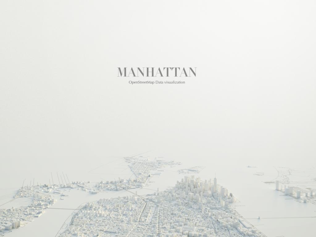 Veduta del modello 3d di Manhattan