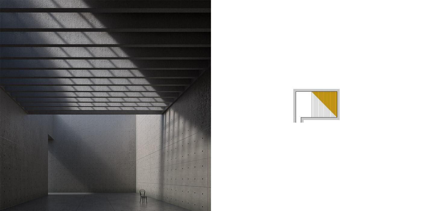Variazioni dell'illuminazione inBblender, versione A3