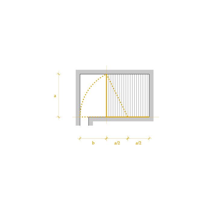 Schema planimetrico basato sulla sezione aurea