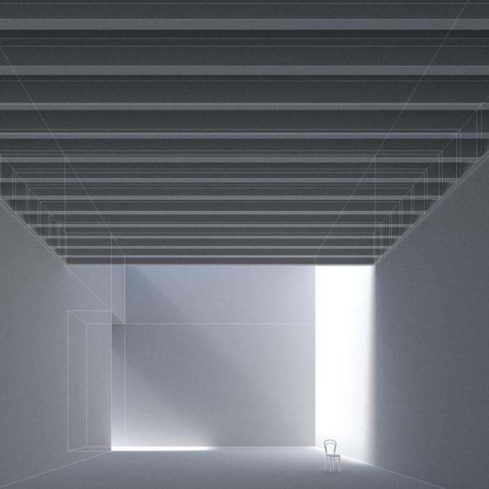 Anteprima wireframe dell'illuminazione senza texture