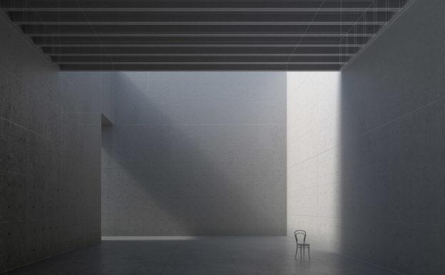 Anteprima immagine renderizzata con sovrapposizione shaded e wireframe