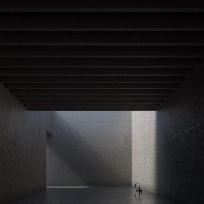 Visualizzazione ambiente 3D realizzato in Blender
