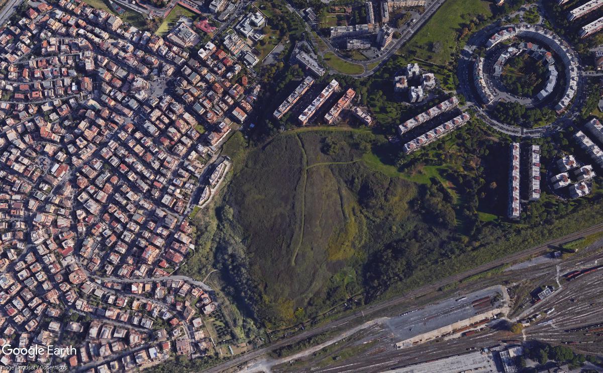 Veduta di Fidene ripresa da Google Earth