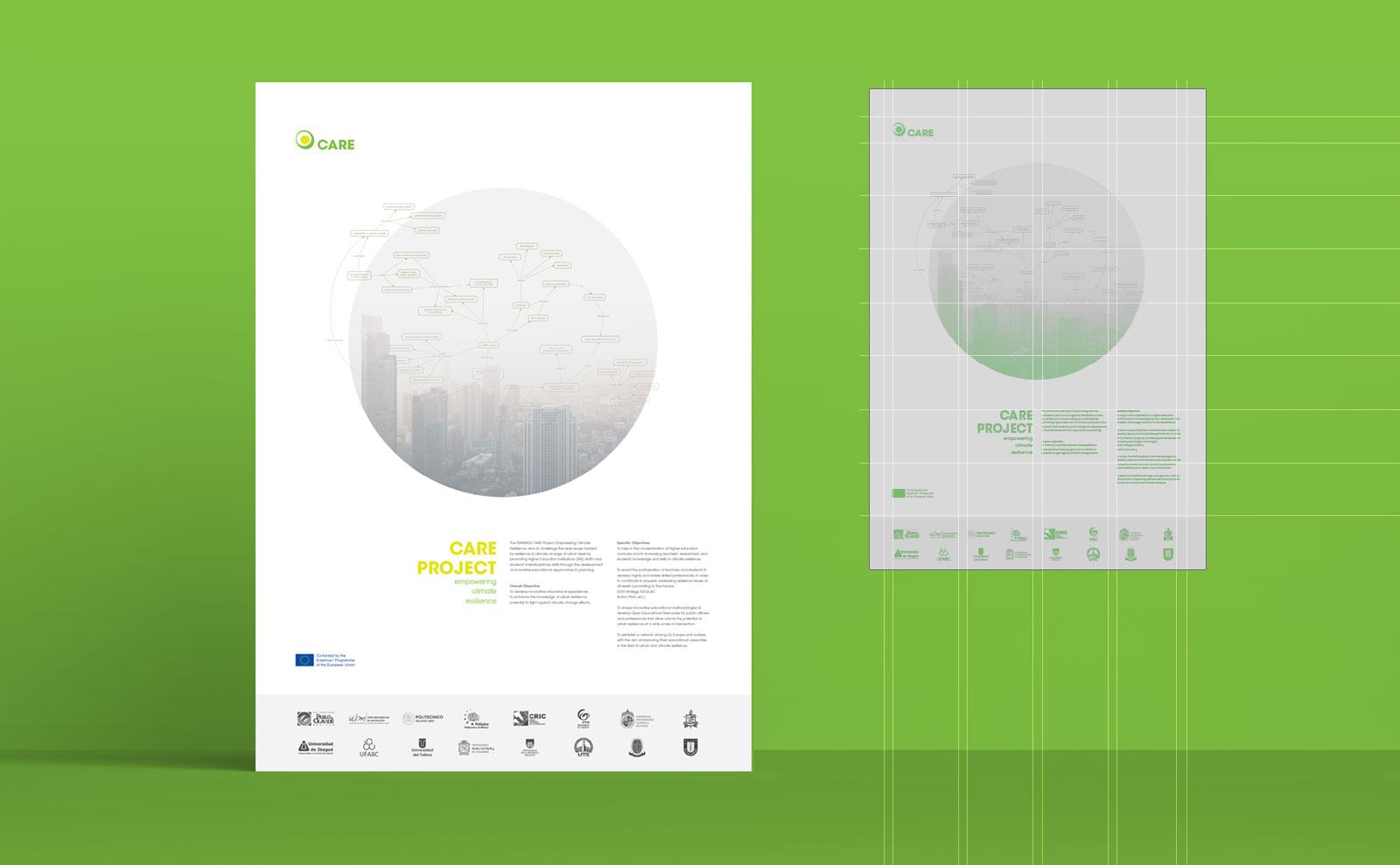 Il poster del progetto Erasmus+ Care